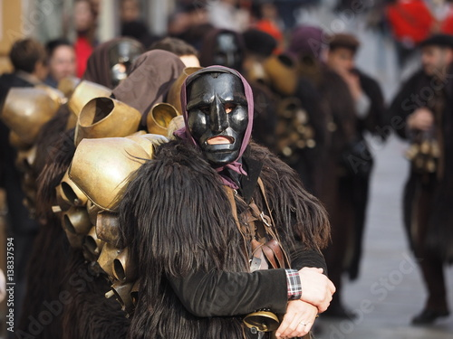 Photo  Carnevale in sardegna in barbagia con i mamuthones