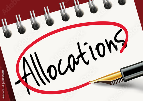Allocations - Subvention - allocations familiales - aide - chômage Canvas Print