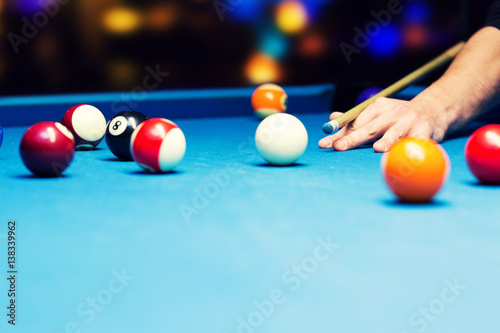 Fotografie, Tablou  bar games - pool billiard