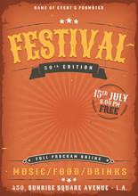 Music Festival Grunge Poster