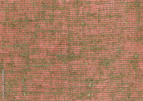Coarse Burlap Fabric High Resolution On Pink Background