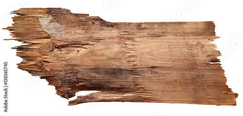 Papiers peints Bois old wooden boards isolated on white background.