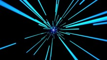 Flying In Tunnel To Light. Seamless Animation