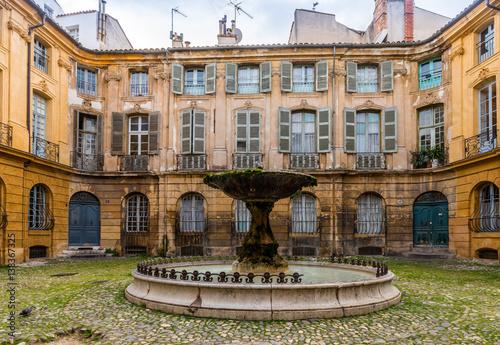 Plakat Albertas Square w Aix-en-Provence, Francja