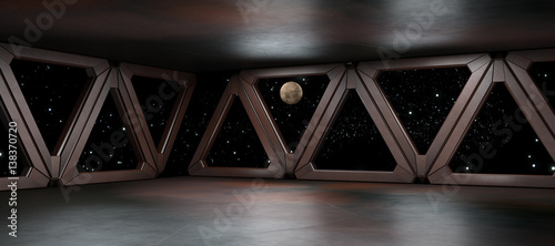 Space environment ready for comp of your characters 3D rendering