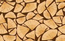 Pile Of Firewood Logs Seamless Pattern