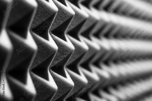 Sound insulation walls black and white Canvas Print