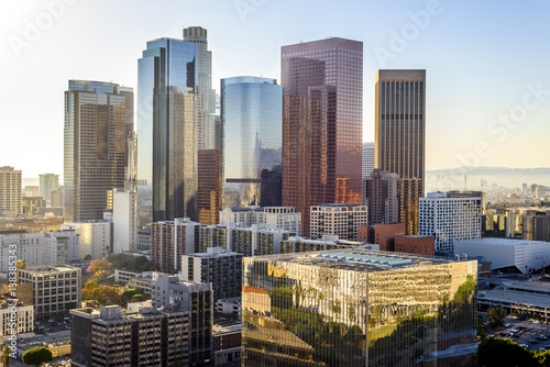 Staande foto Los Angeles Downtown Skyline Los Angeles, California, USA