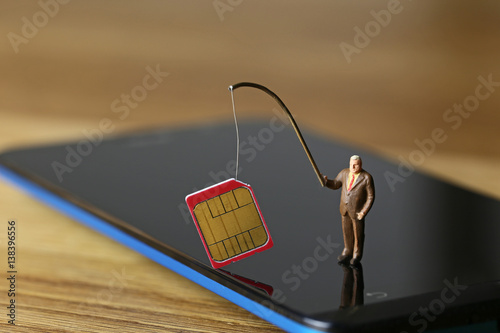 Vászonkép SIMカードの盗難