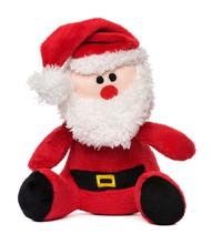Little Santa Claus Plush Toy Isolated On White Background