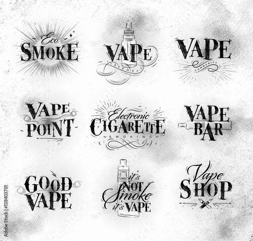 Staande foto Positive Typography Poster start vape