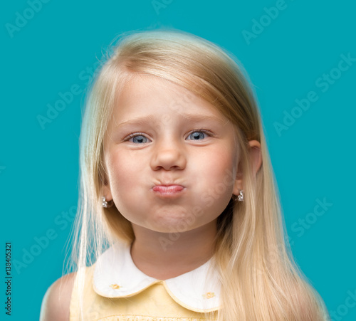 Valokuva  Funny little girl portrait - Stock image