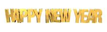 Happy New Year Golden 3d Render