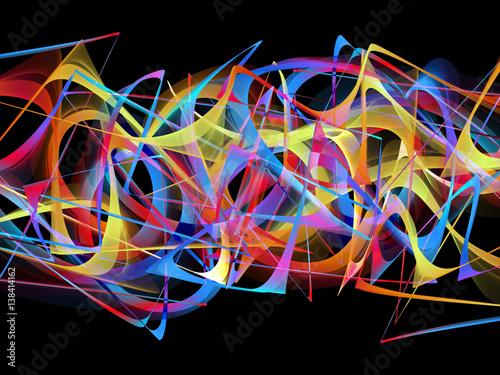 Foto op Canvas Graffiti abstract colorful graffiti