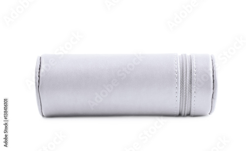 Photo Cylindrical pencil case isolated
