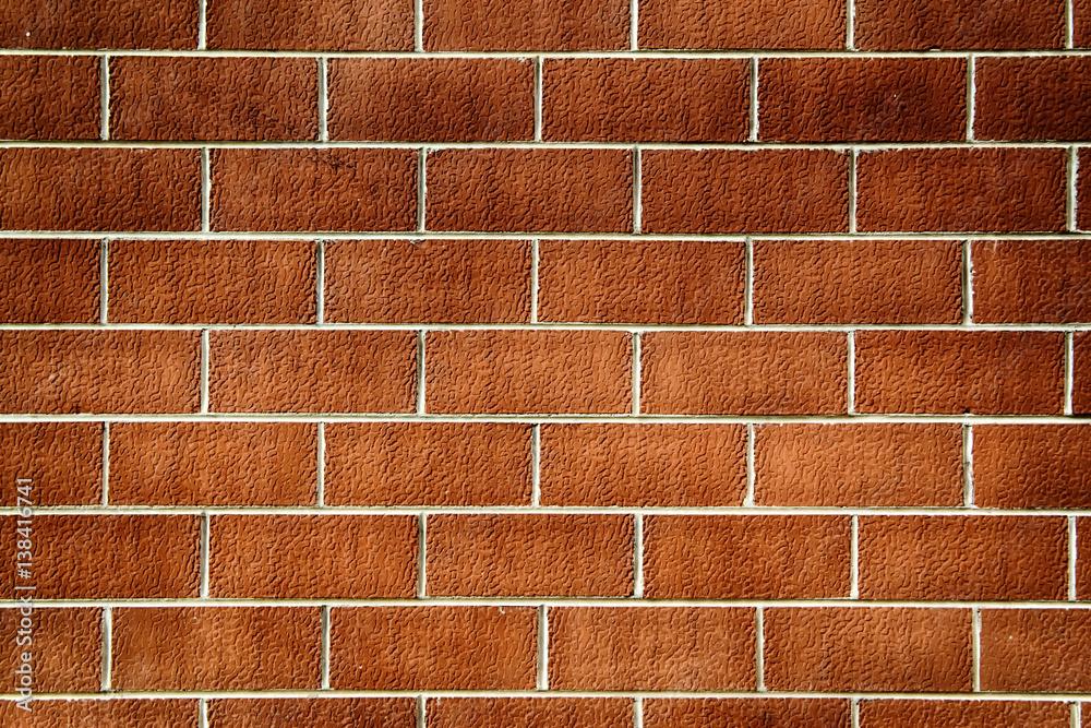 Photo & art print muro di piastrelle tipo mattoni in terracotta
