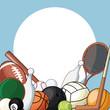 set sport balls equipment icon vector illustration eps 10