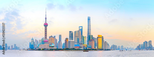 Foto op Aluminium Shanghai Shanghai colorful panorama, China