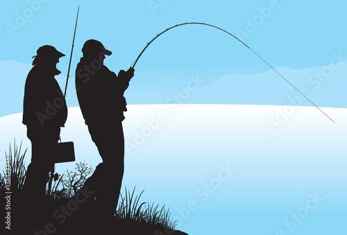 Fotografie, Obraz  Fishing