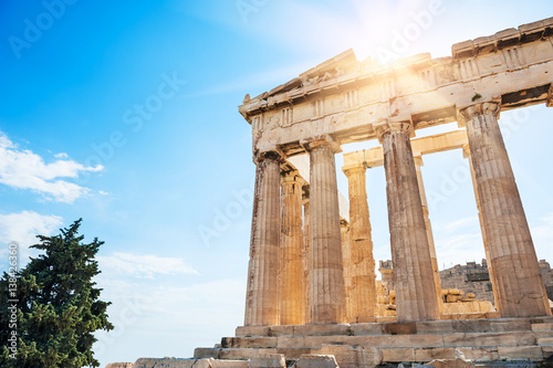 Poster de jardin Athenes Parthenon temple on the Acropolis in Athens, Greece
