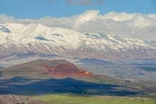 Snow On Mount Hermon, Golan He...