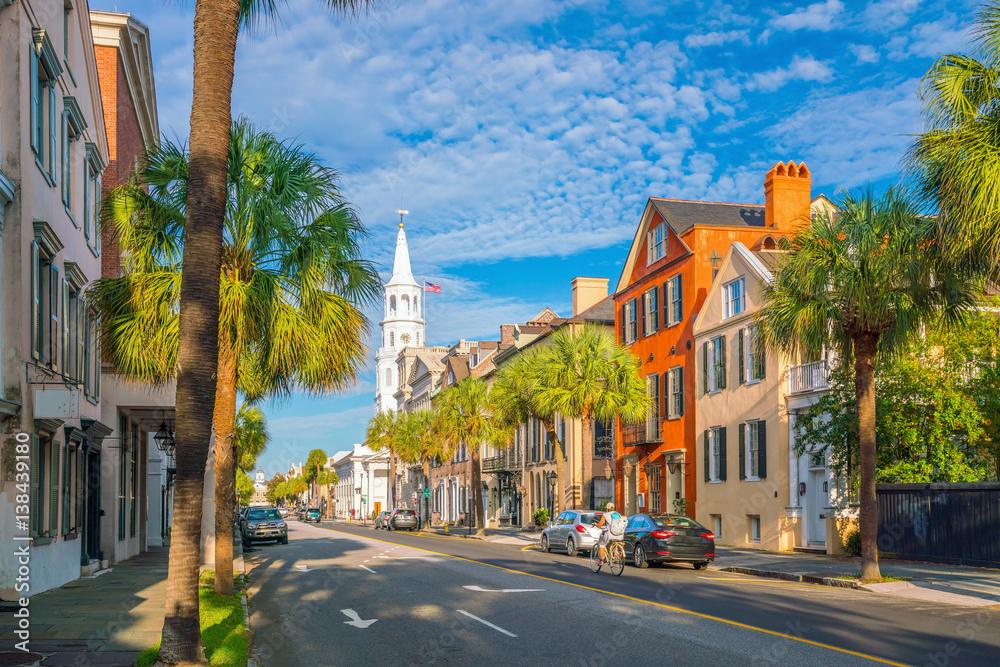 Fototapety, obrazy: Historical downtown area of  Charleston