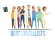 Best Medical Specialists Cartoon Style Illustration