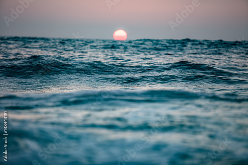 Sunset in ocean