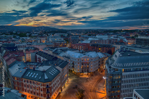 Oslo di sera Canvas Print