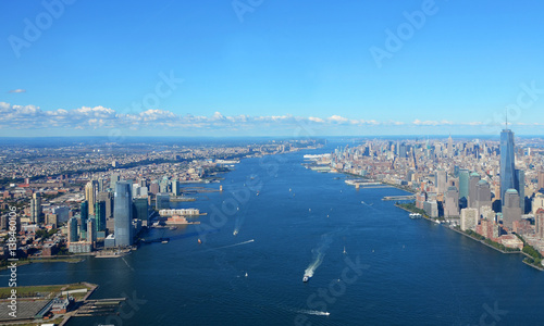 Fotografie, Tablou  New York, USA, September 28, 2013: New York Harbor with Empire State Building an