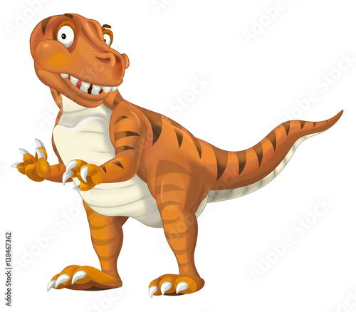 Photo  cartoon dinosaur tyrannosaurus illustration for children