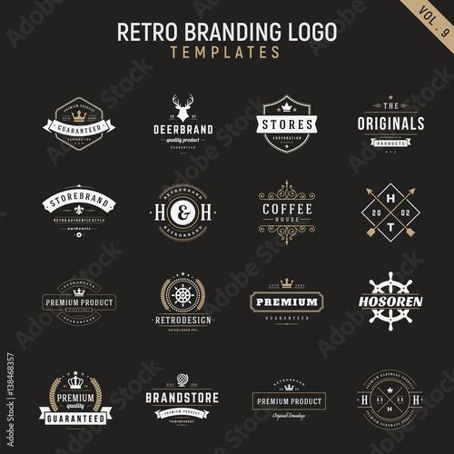 retro vintage logo branding