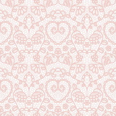 NaklejkaLace seamless pattern with flowers