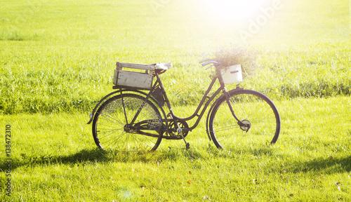 Türaufkleber Fahrrad Altes Fahrrad