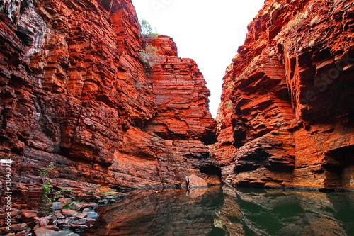 Montage in der Fensternische Ziegel Canyons in Australia - Karijini National Park