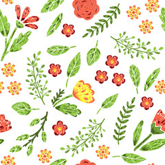 Panel SzklanyHand drawn seamless pattern