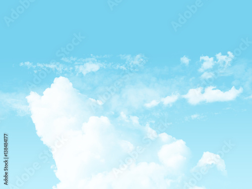 Poster Ciel sky and cloudy