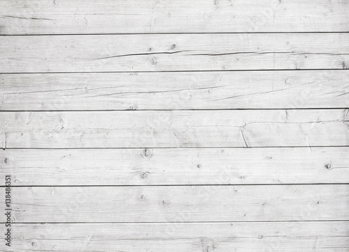 Tuinposter Hout White wooden planks, tabletop, floor surface or wall.