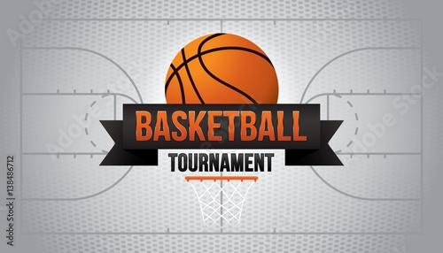 Turniej koszykówki. Ilustracji wektorowych