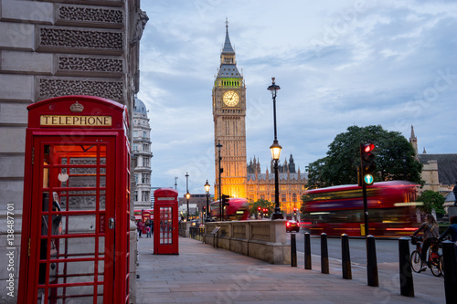 Tuinposter Londen Big BenBig Ben and Westminster abbey in London, England