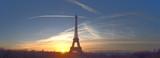 Fototapeta Fototapety z wieżą Eiffla - Beautiful early morning at Eiffel Tower, Paris