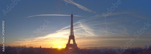 Beautiful early morning at Eiffel Tower, Paris