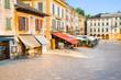 Lakeside promenade at Orta, view from San Giulio island, Piedmont, Italy, Europe