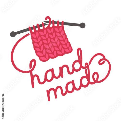 Fotografie, Obraz  Knitting hand made lettering