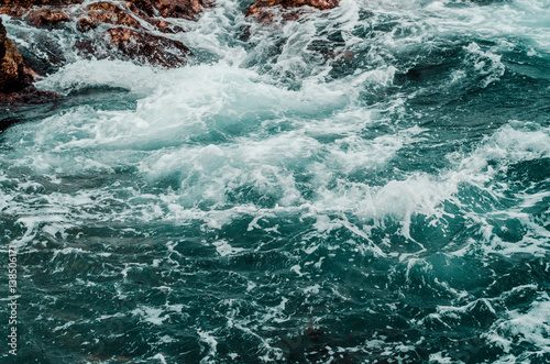 Photo  pure raging sea