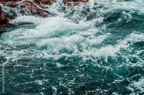 pure raging sea Wallpaper Mural