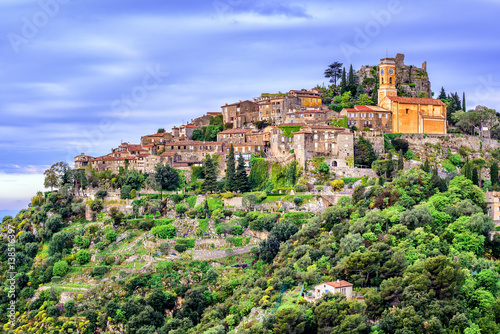Canvas Prints Nice Eze village on hill top, French Riviera, Provence, France