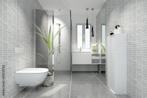 Pinturas sobre lienzo  Bad Minibad Duschbad Badezimmer klein kleines