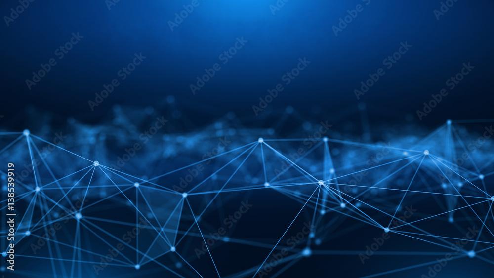 Fototapeta Concept of Network, internet communication. 3d illustration