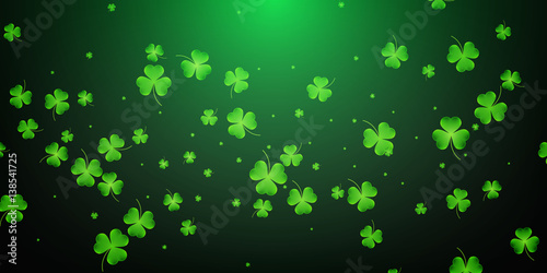 Stampa su Tela Clover flying leaves background